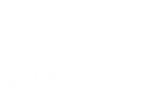 Quatreau logo with minimalist waves